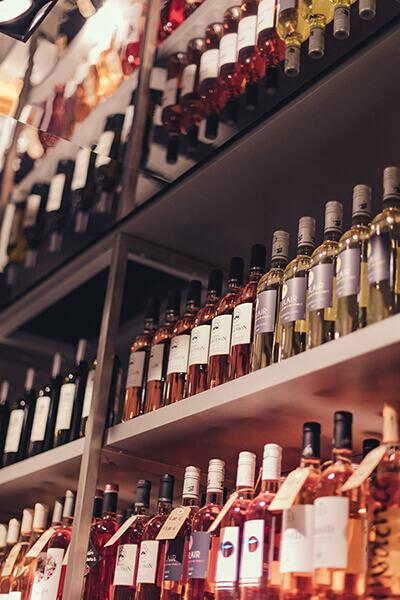Rangée de nos bouteilles